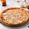 Фото к позиции меню Пицца Ветчина и грибы 28 см, на тонком тесте