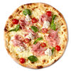 Фото к позиции меню Пицца с ветчиной и ореховым кремом