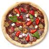 Фото к позиции меню Мини-пицца с пастой Нутелла, бананами и клубникой