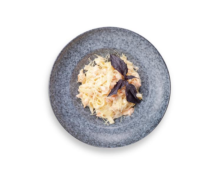 Тальятелле<br> с морепродуктами в сливочном соусе
