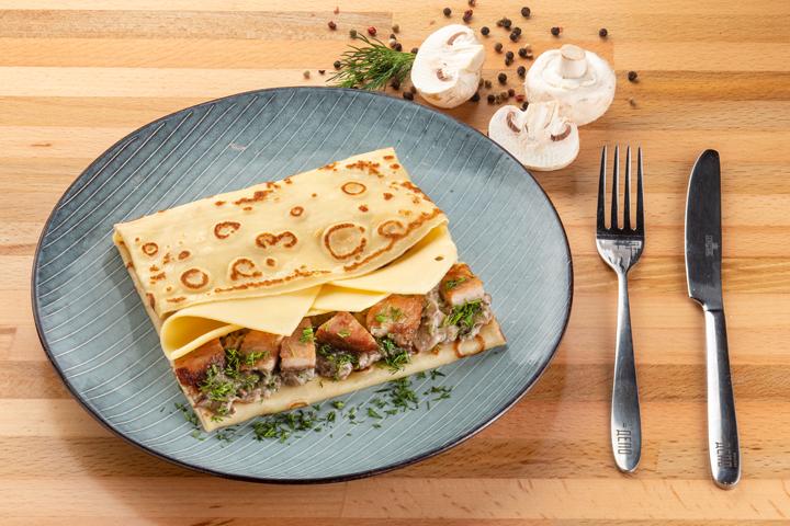 Блин Буженина с грибами и сыром