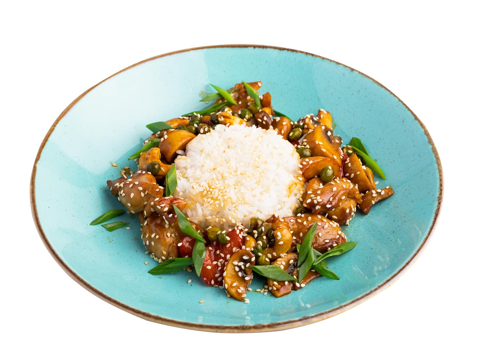 Филе курицы с рисом Жасмин