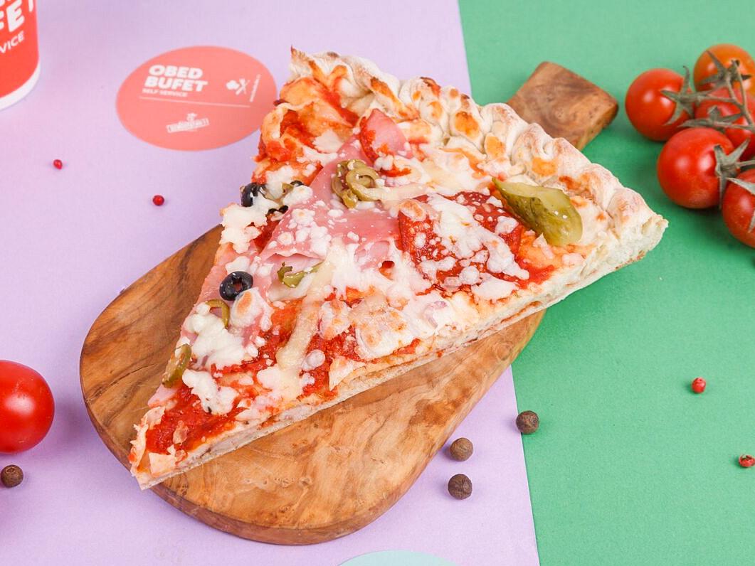 Пицца с пепперони и телятиной слайс