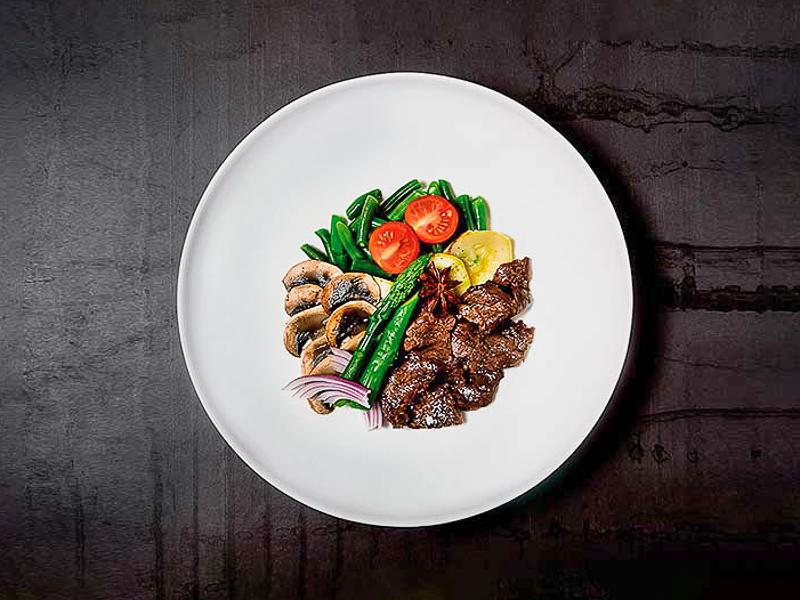 Говядина по-азиатски с овощами