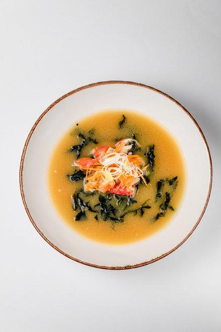 Суп Мисо с крабом