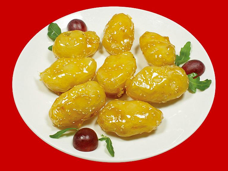 Ассорти из фруктов в карамели