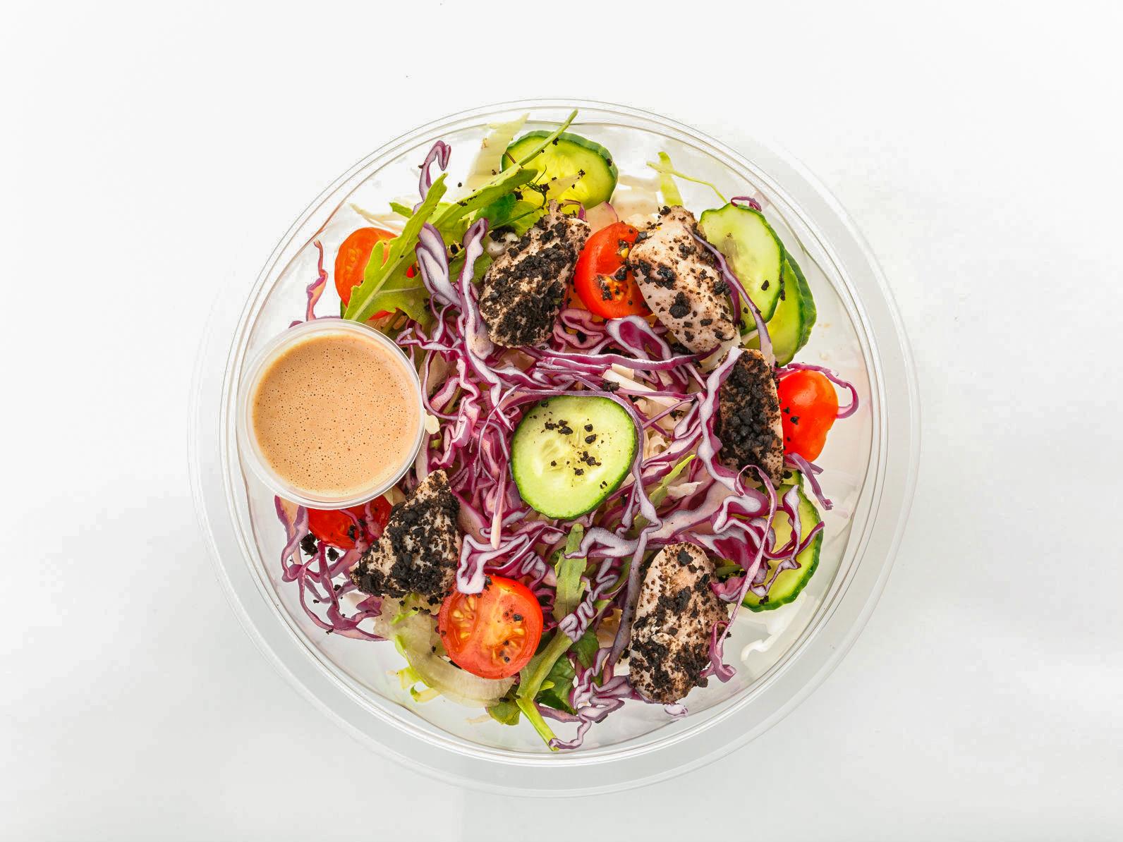 Greenbox с цыпленком и свежими овощами