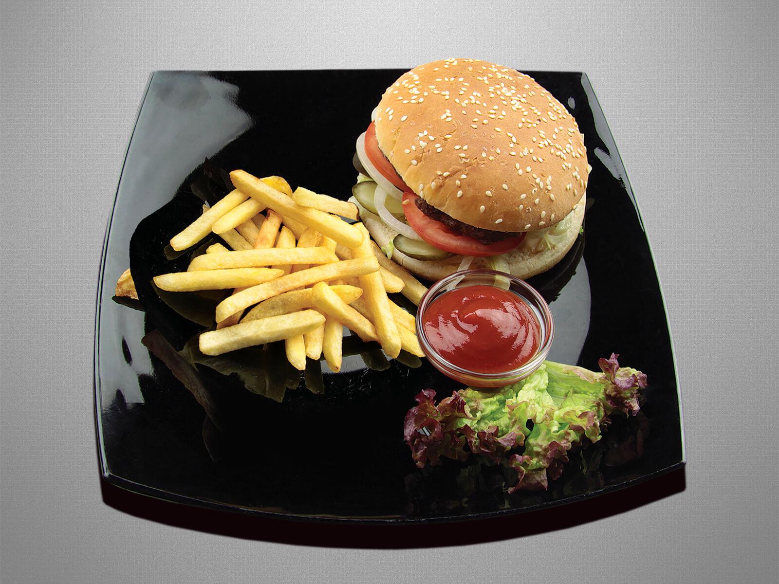 Бургер с говядиной или курицей