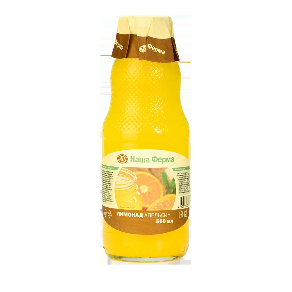 Лимонад негазированный Наша Ферма апельсиновый