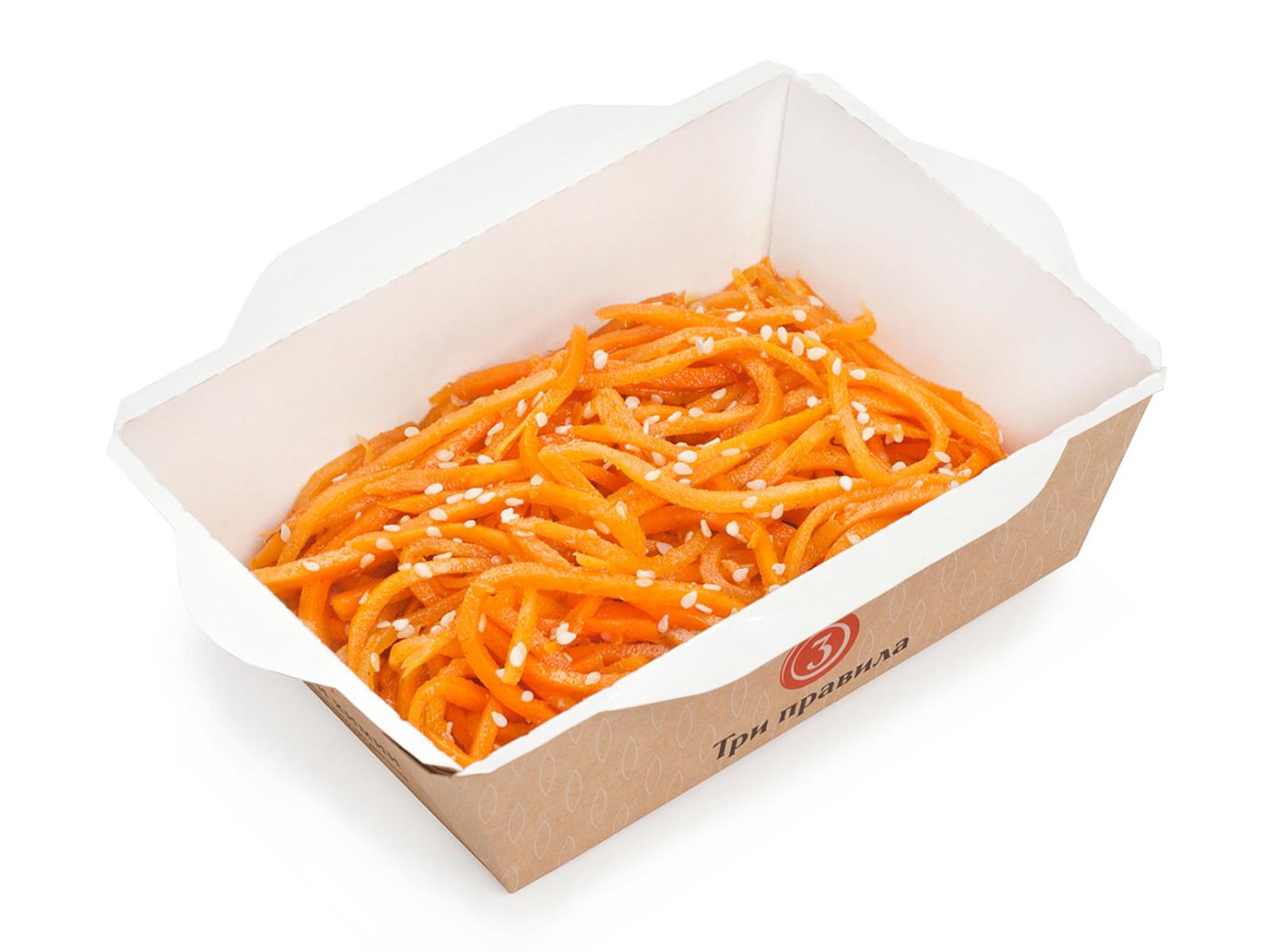 Салат Морковь с кунжутом по-корейски