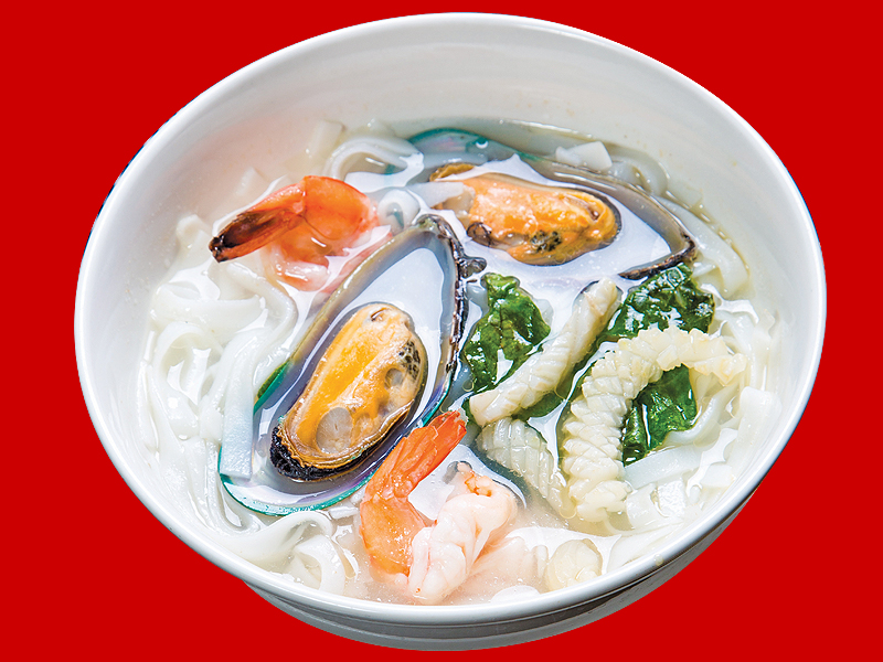 Суп-лапша с морепродуктами