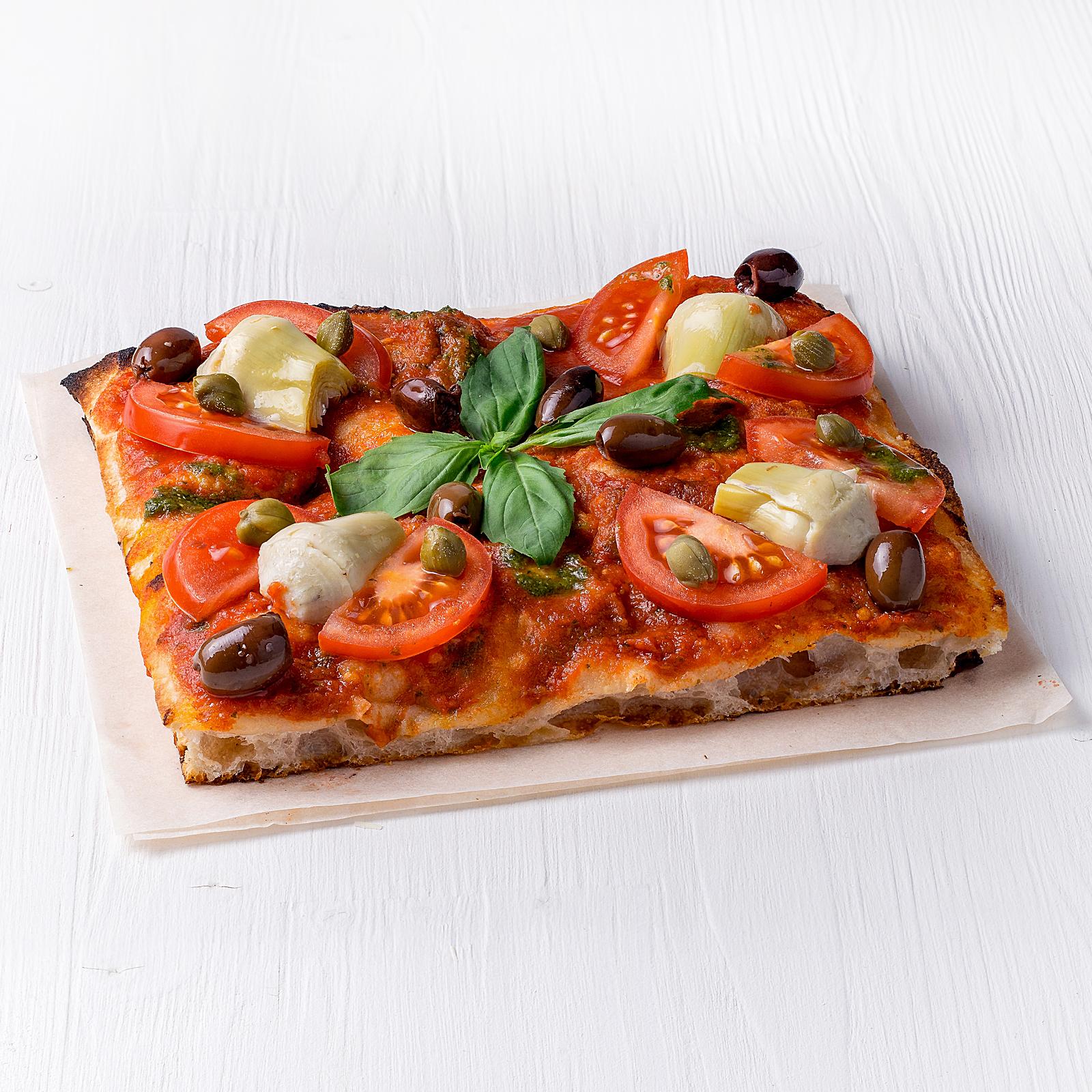 Веганская пицца с артишоками