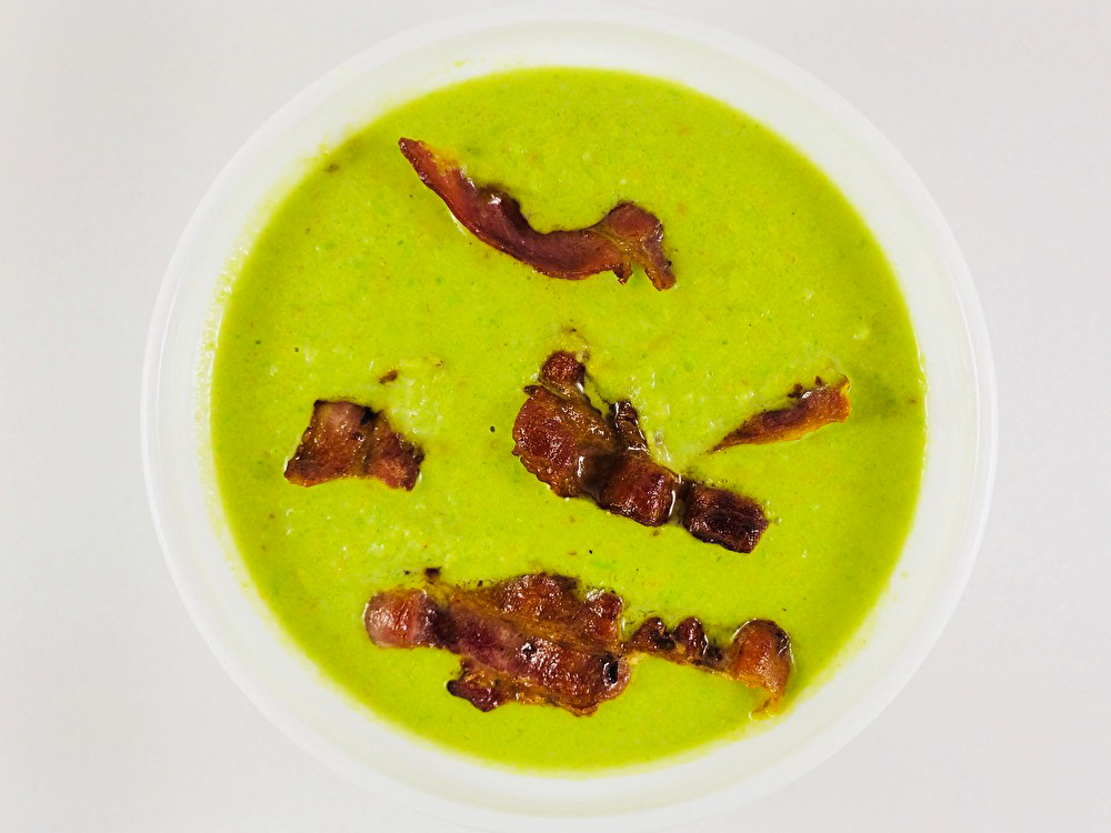 Крем-суп гороховый с беконом