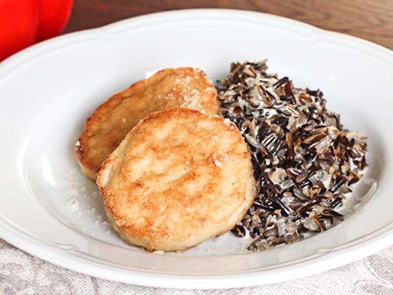 Котлетки из щуки с миксом из риса в сливках