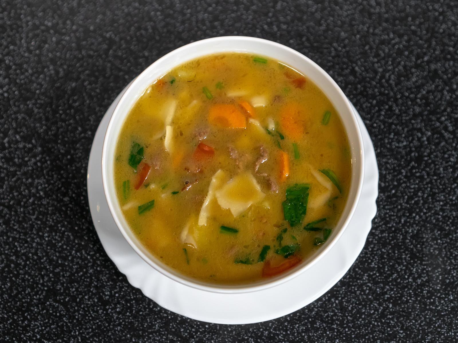Суп из рваной лапши Манпар