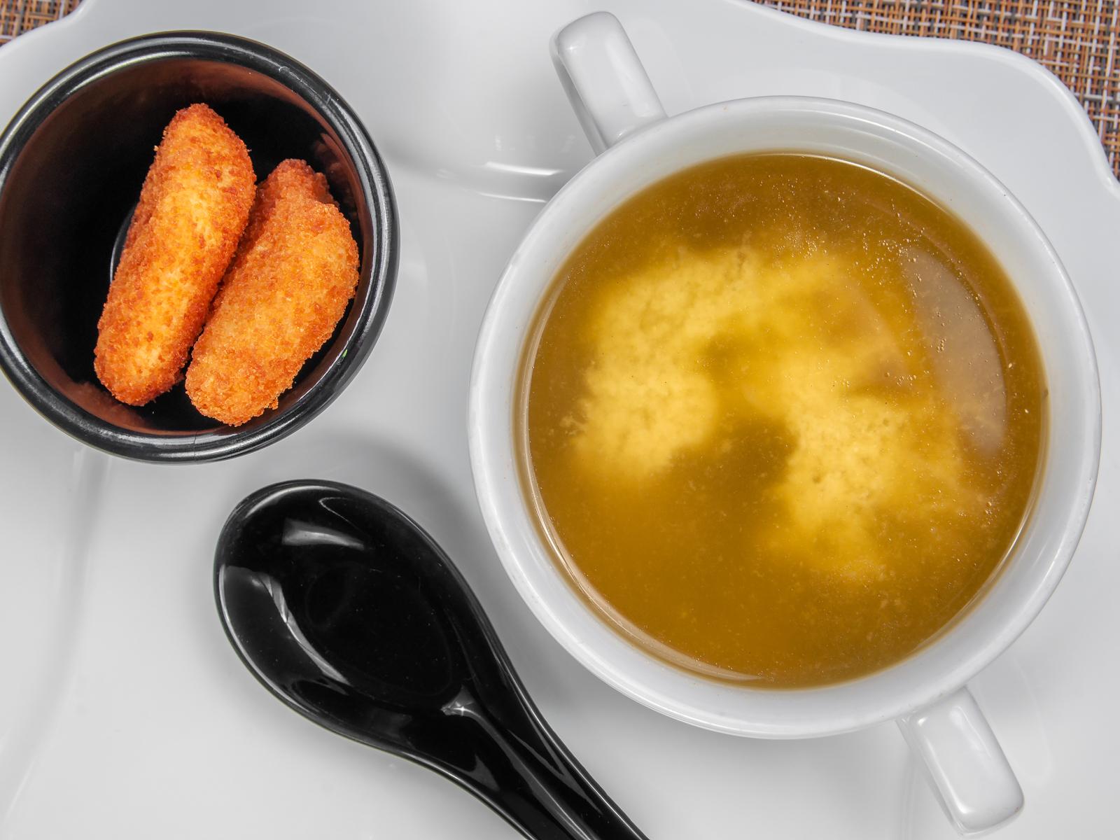 Мисо суп с чукой и курочкой