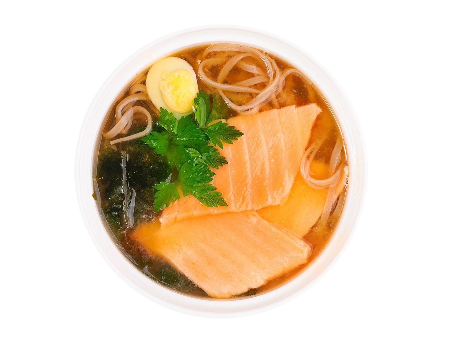 Суп Соба с лососем