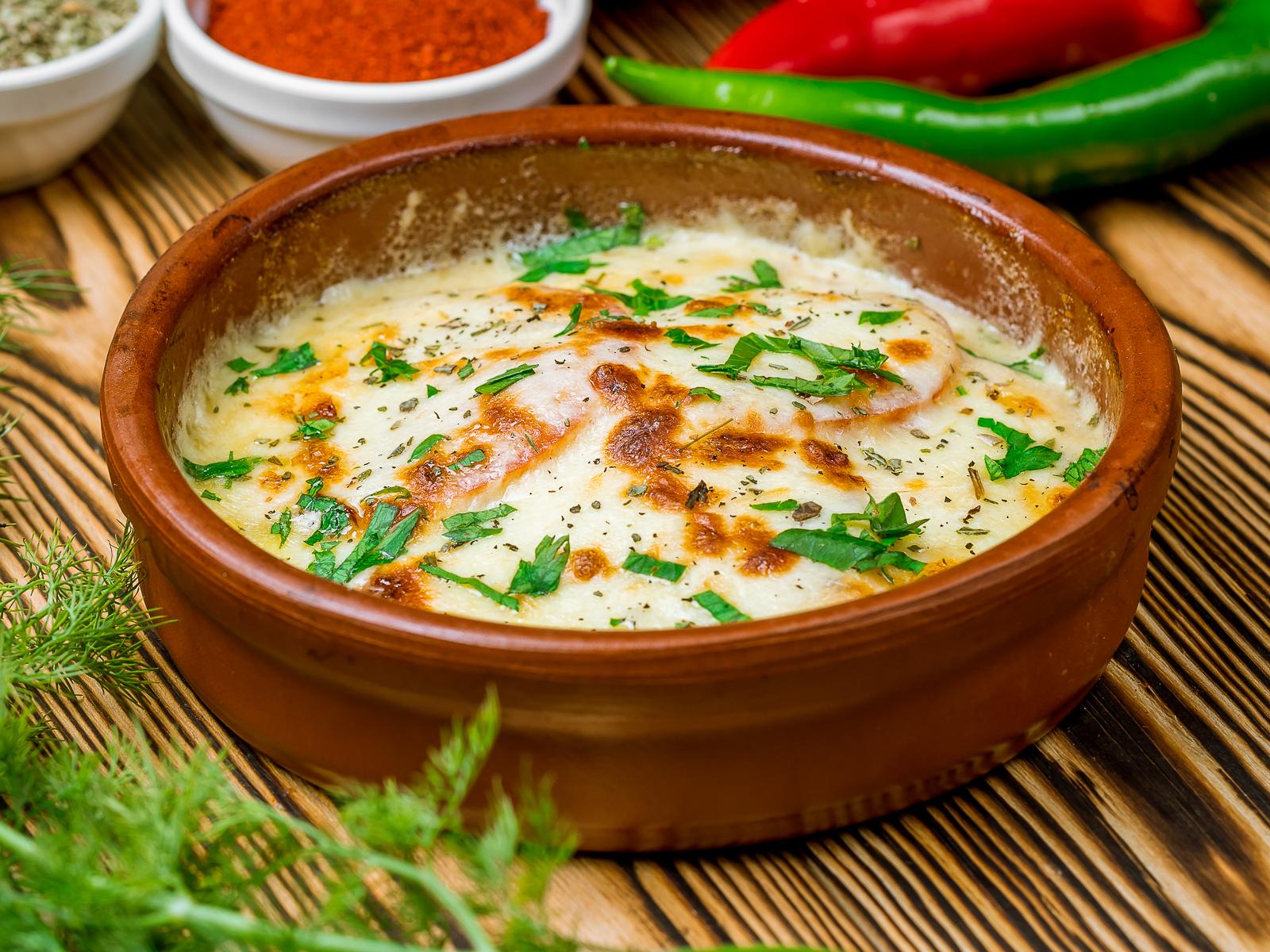 Печеный сыр Сулугуни
