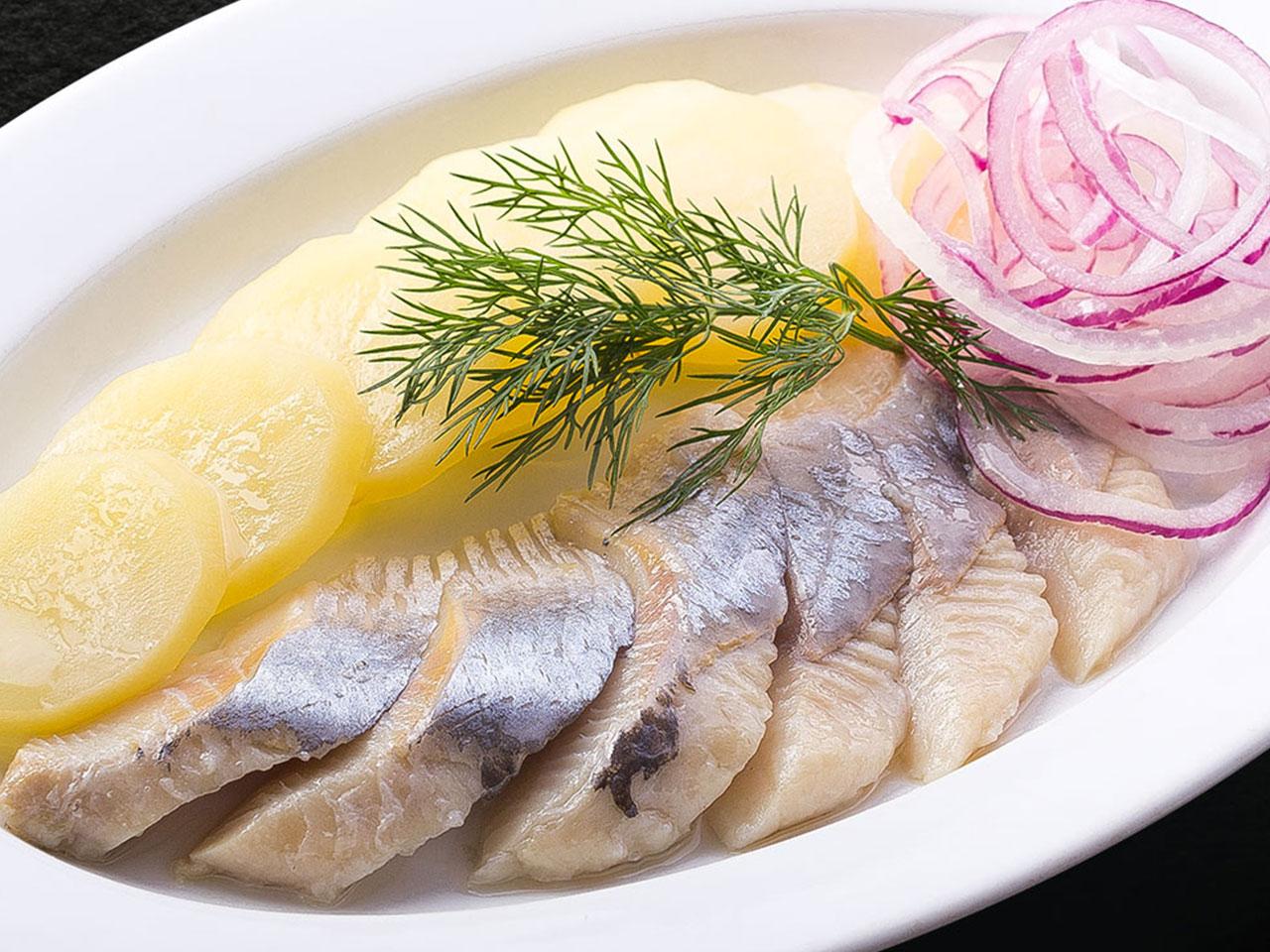 Сельдь балтийская с картофелем