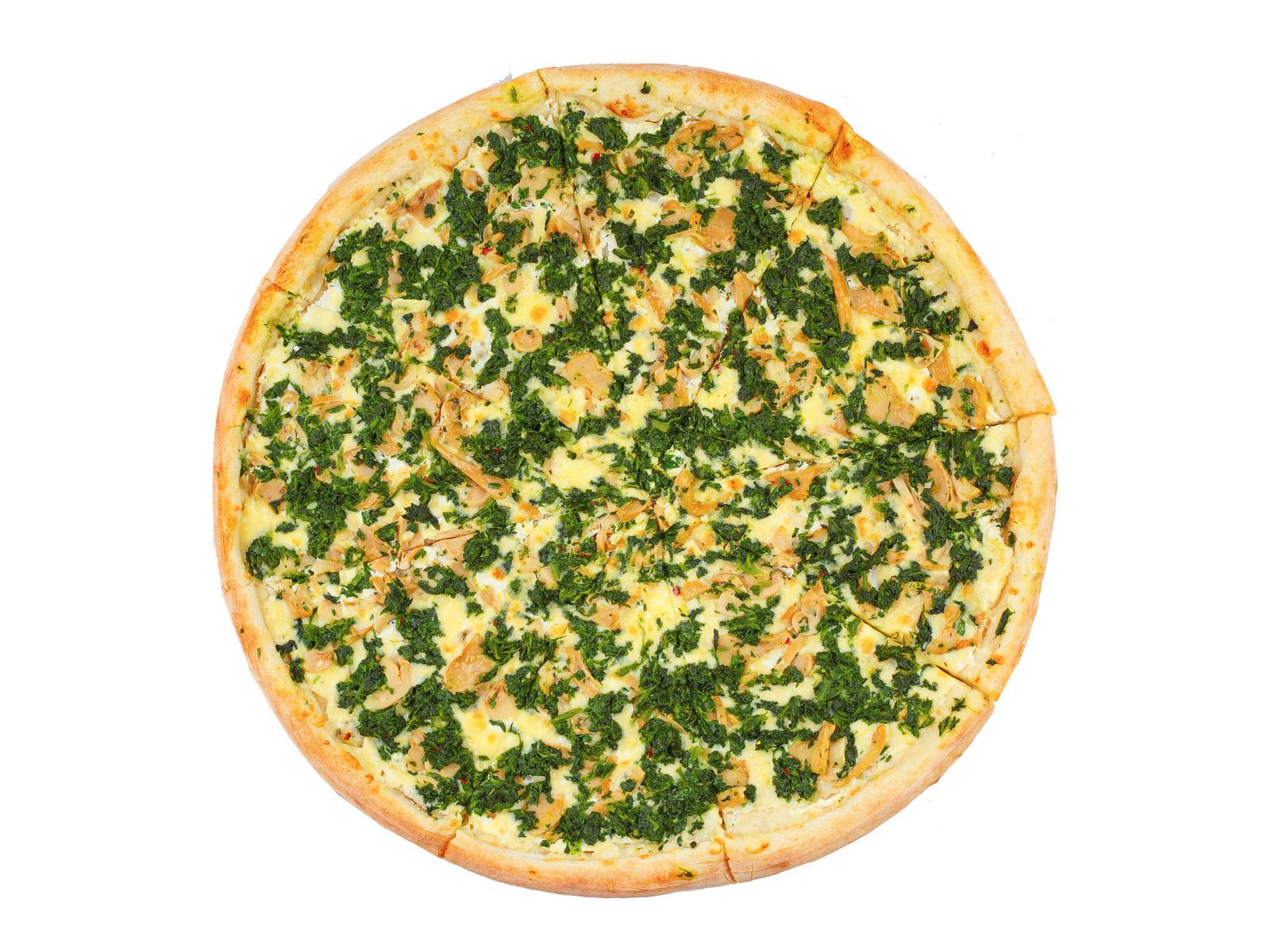 Пицца Грибы и Шпинат