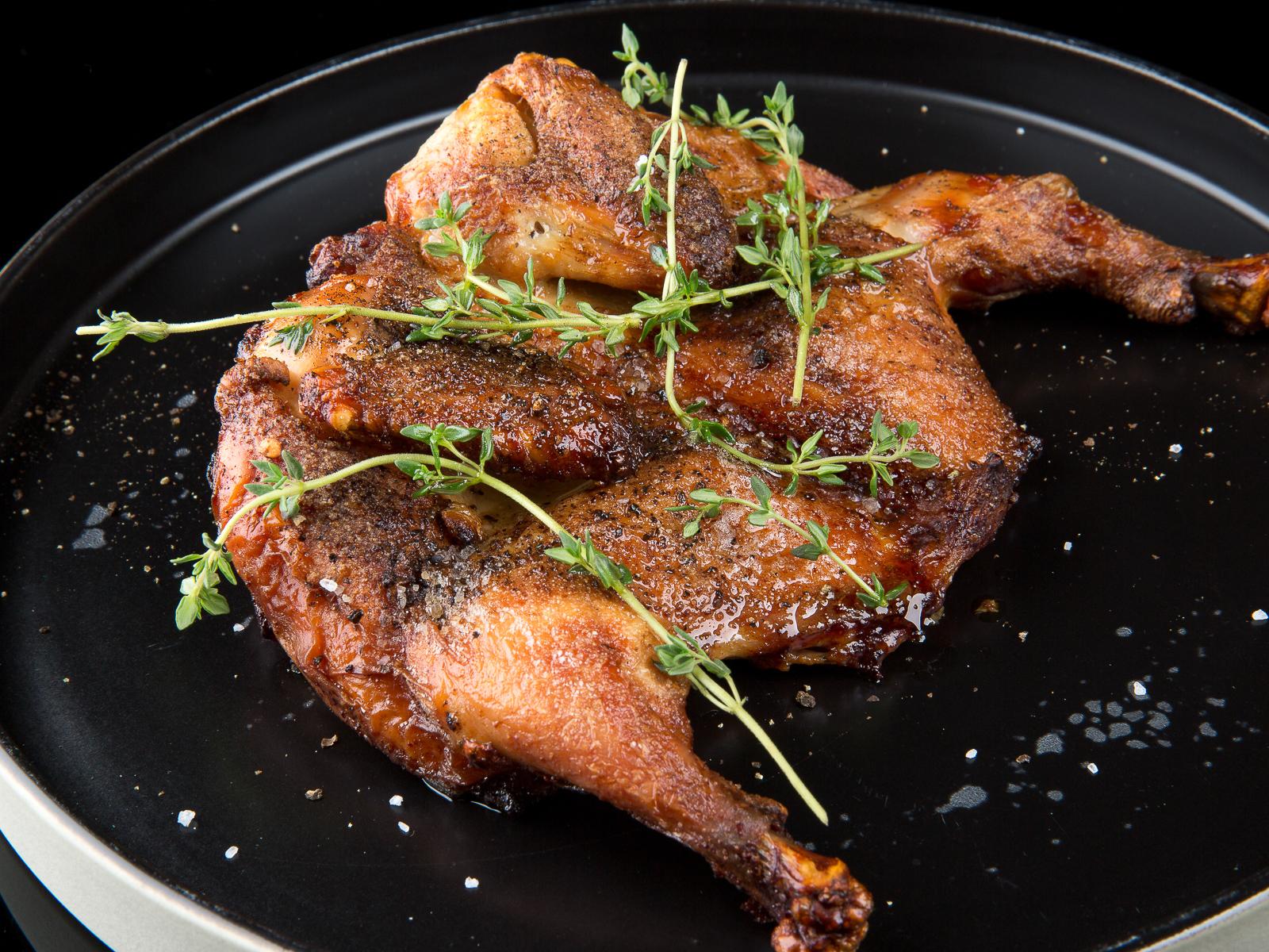 Запеченный фермерский цыпленок
