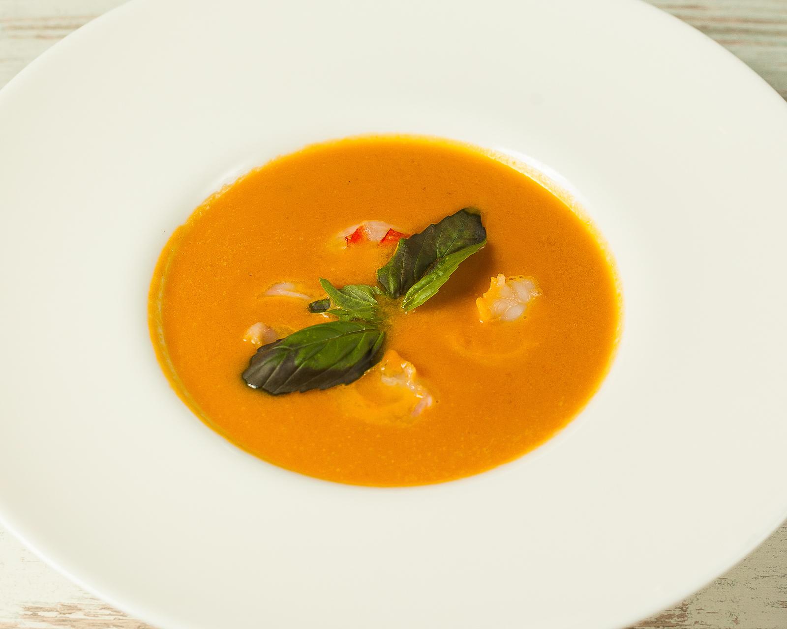 Крем-суп из тыквы с креветками