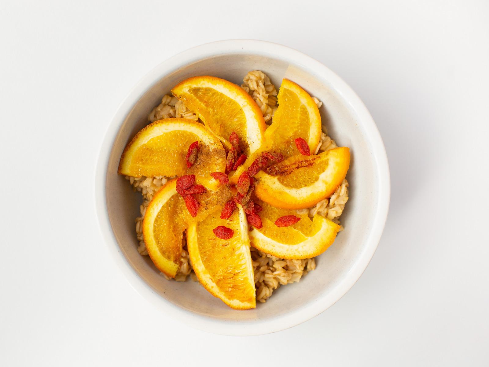 Оул'с каша с апельсином