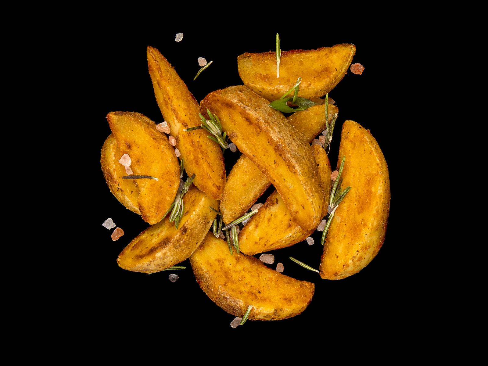 Веганский картофель по-деревенски