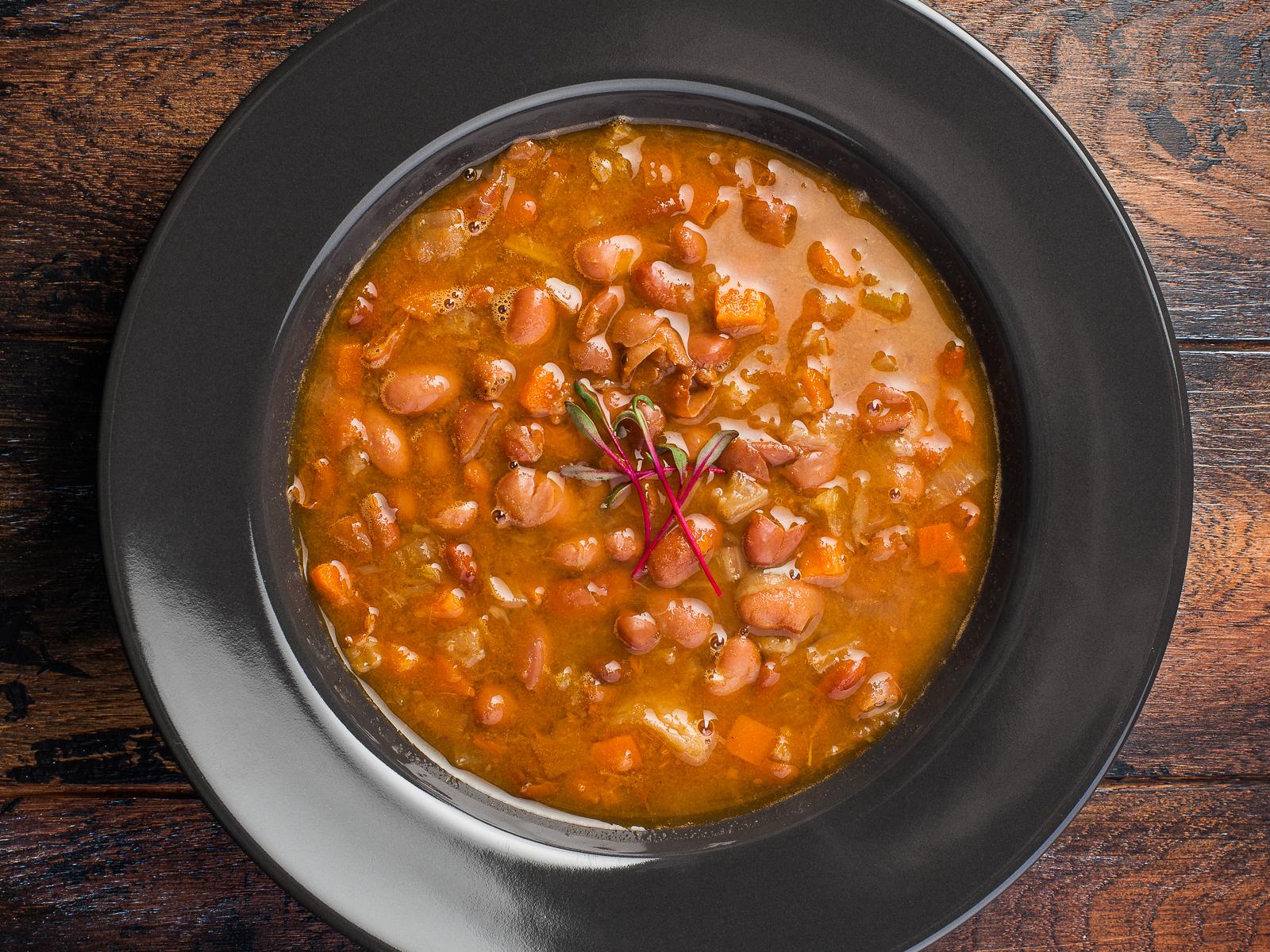 Суп фасолевый в стиле лобио