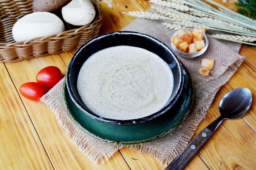 Крем-суп излесных грибов