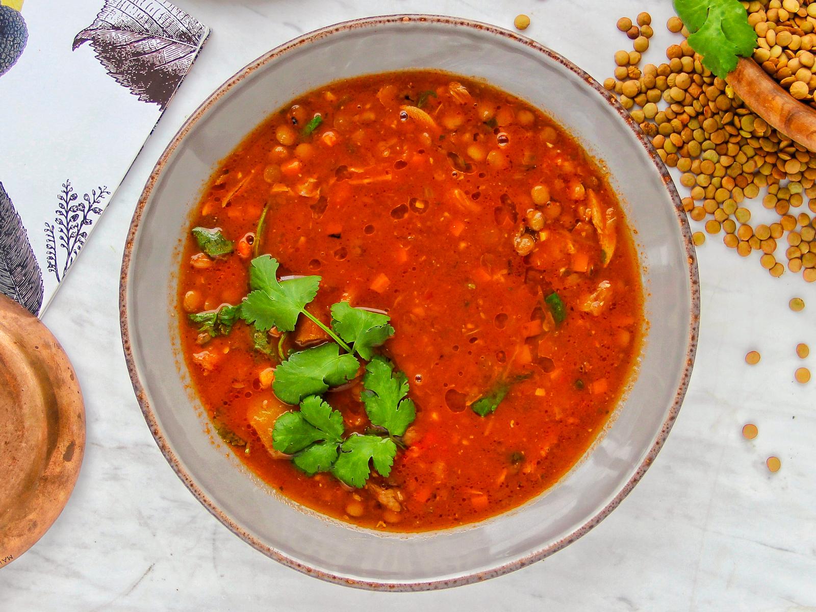 Чечевичный суп с ягненком