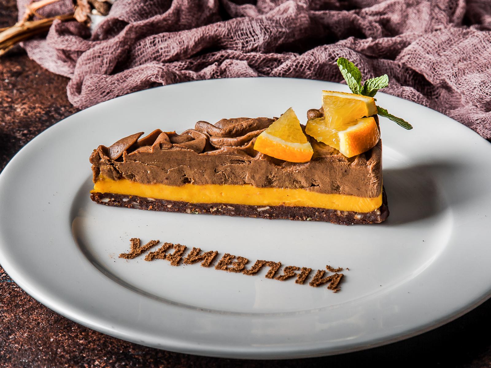 Шоколадно-апельсиновый кейк