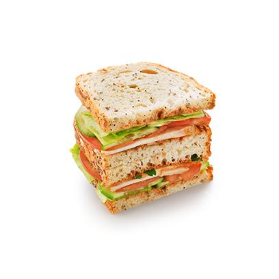 Сандвич-блумер с курицей в сливовом соусе