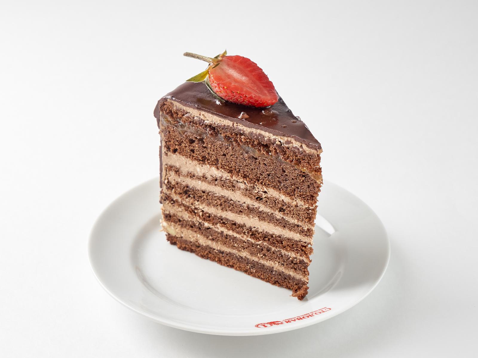 Торт Прага кусок
