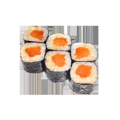 Ролл спайс-маки с лососем