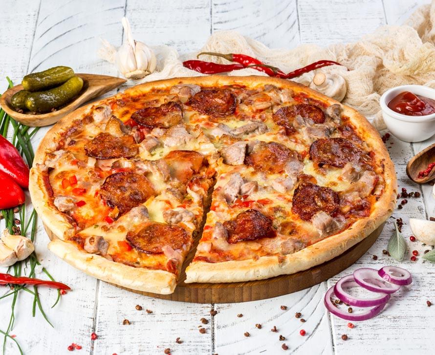 Пицца Дьябло с двойной начинкой