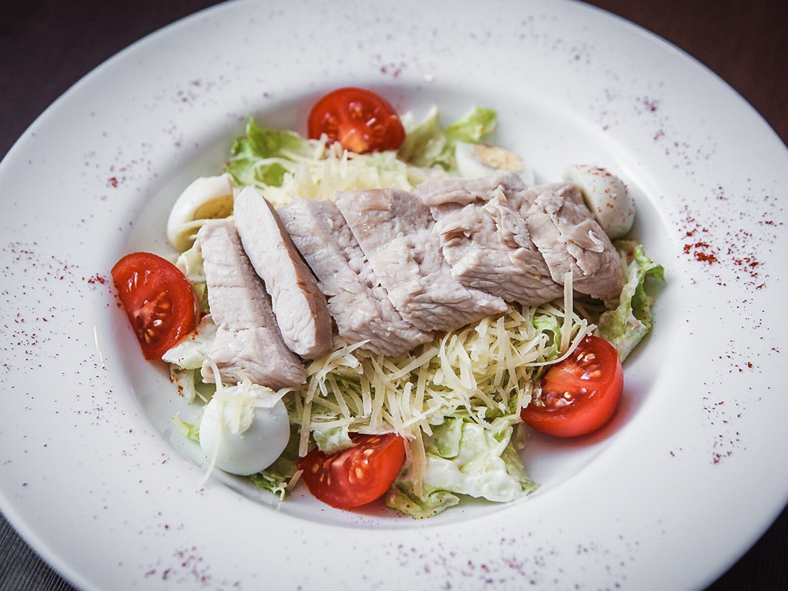 Салат с отварной курицей