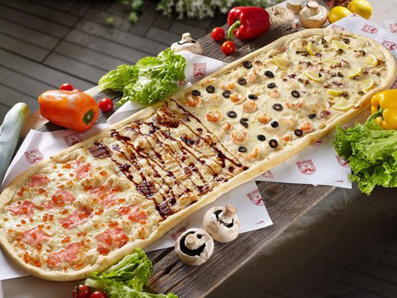 Метровая пицца Четыре океана