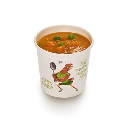 Суп из ярких овощей