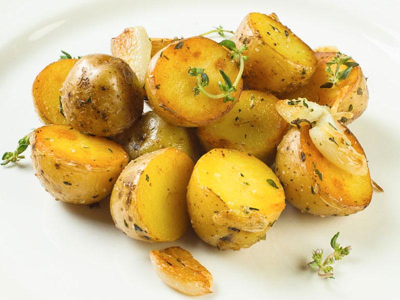 Картофель с тим. и чесн
