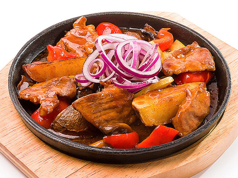 Тепаньяки со свининой