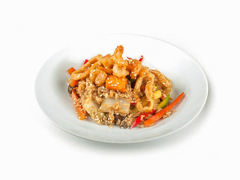 Морепродукты с устричным соусом