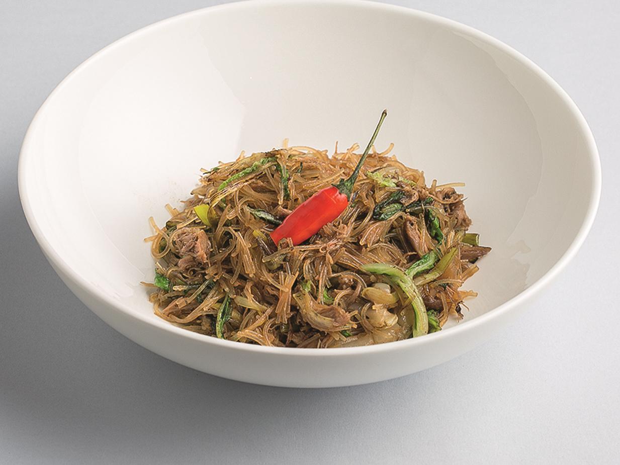 Лапша рисовая с уткой