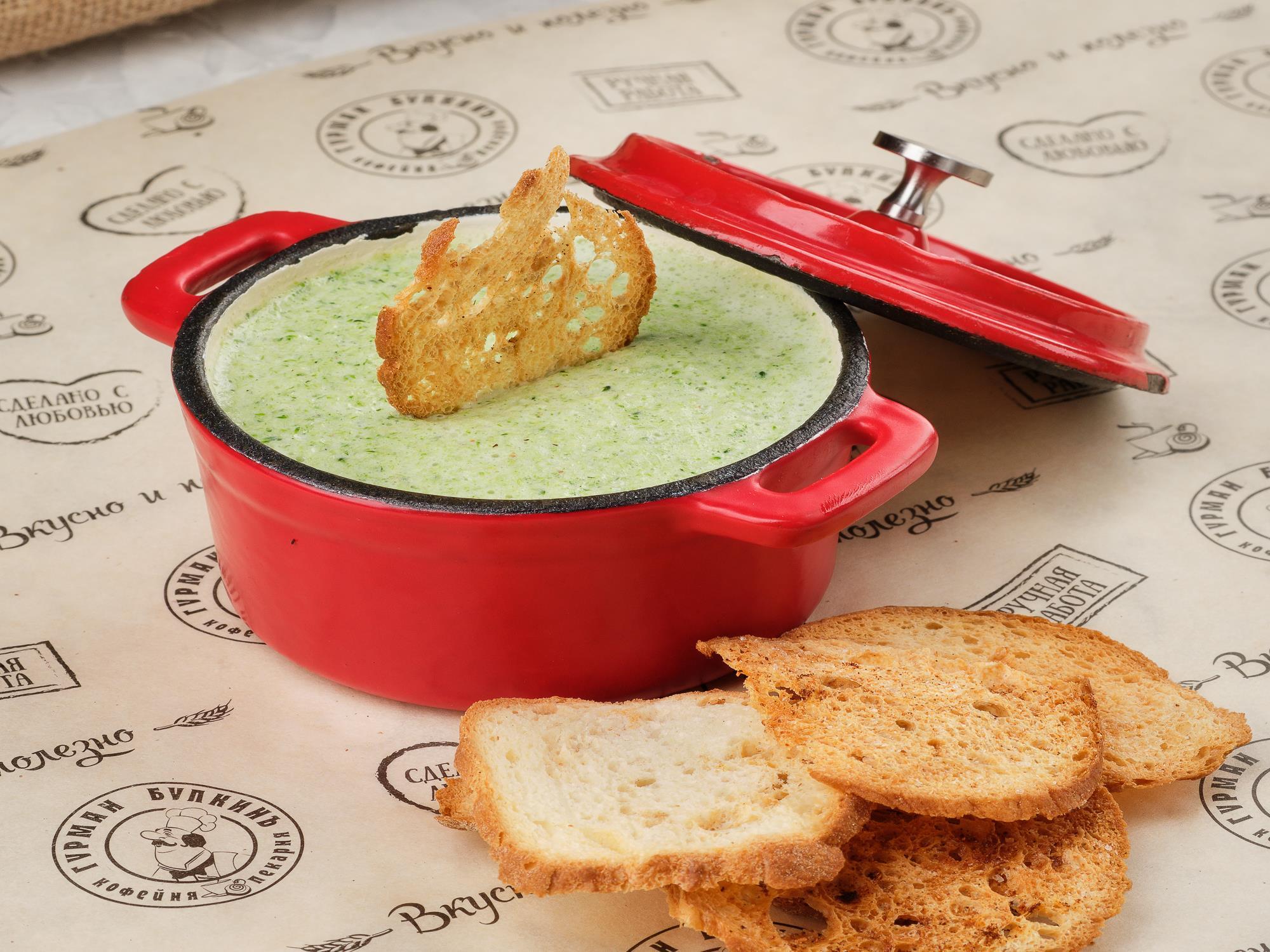 Крем-суп из брокколи на соевом молоке