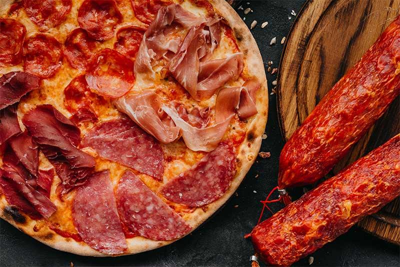 Пицца «Четыре салями»
