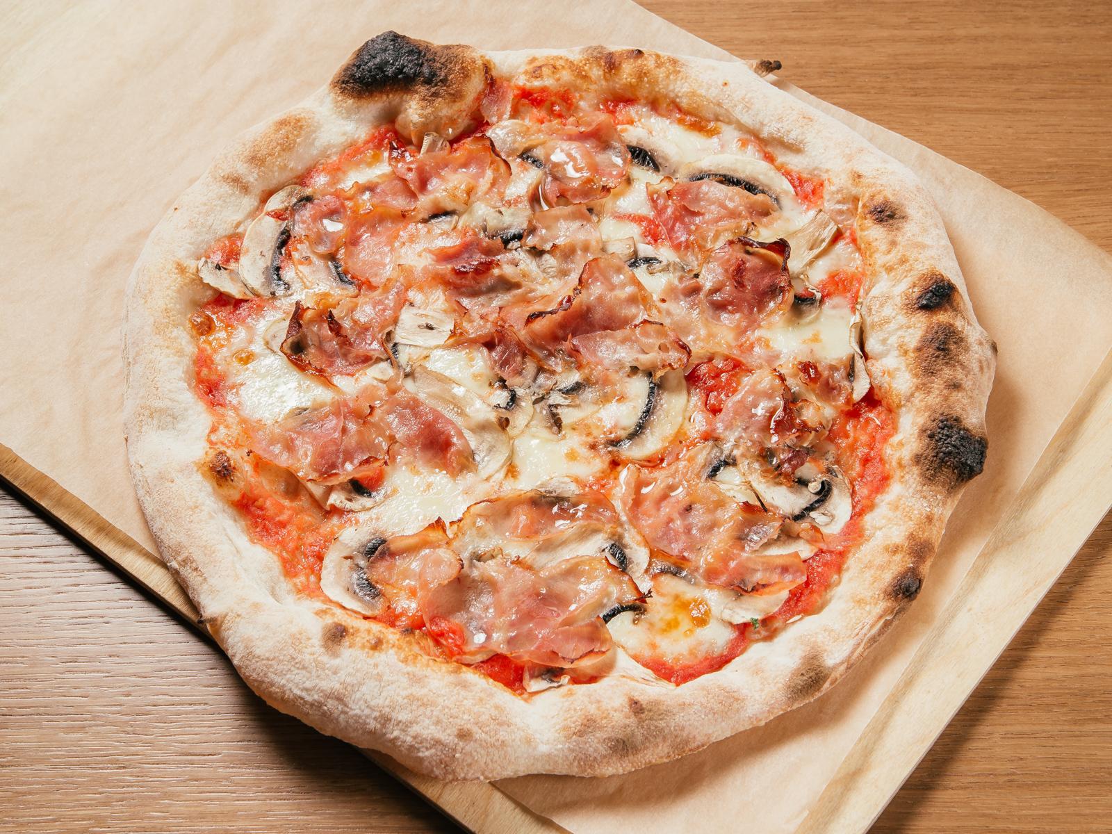 Пицца Prosciutto e funghi