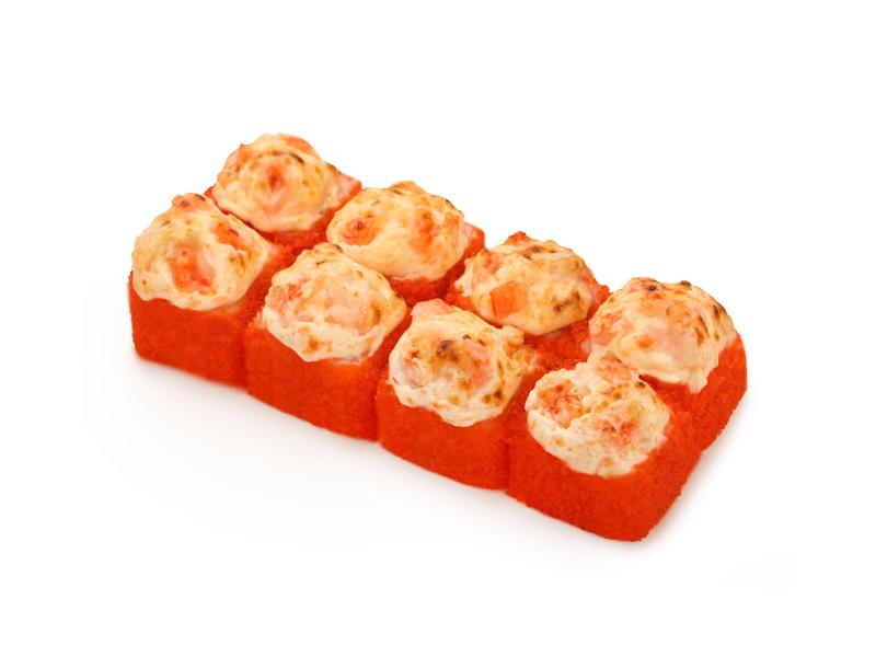 Ролл Запеченный сырный с тигровой креветкой