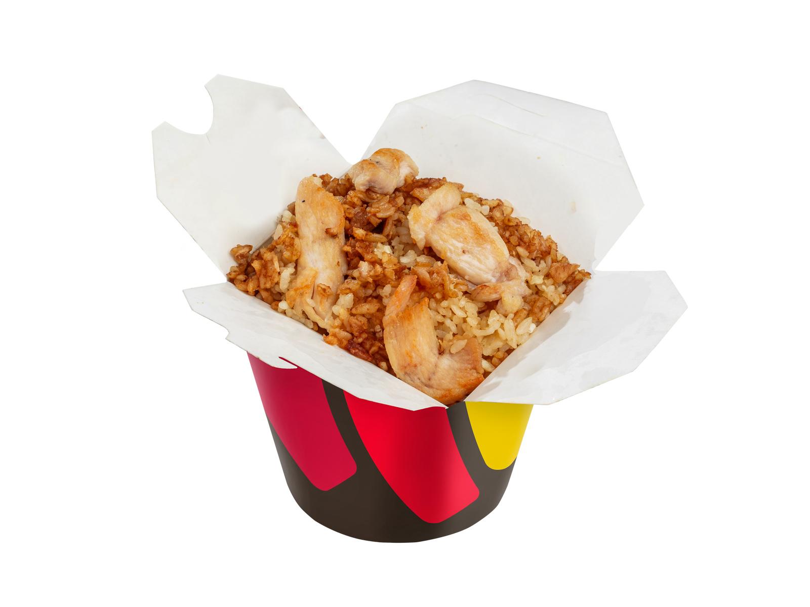 Рис с цыпленком в китайском соусе