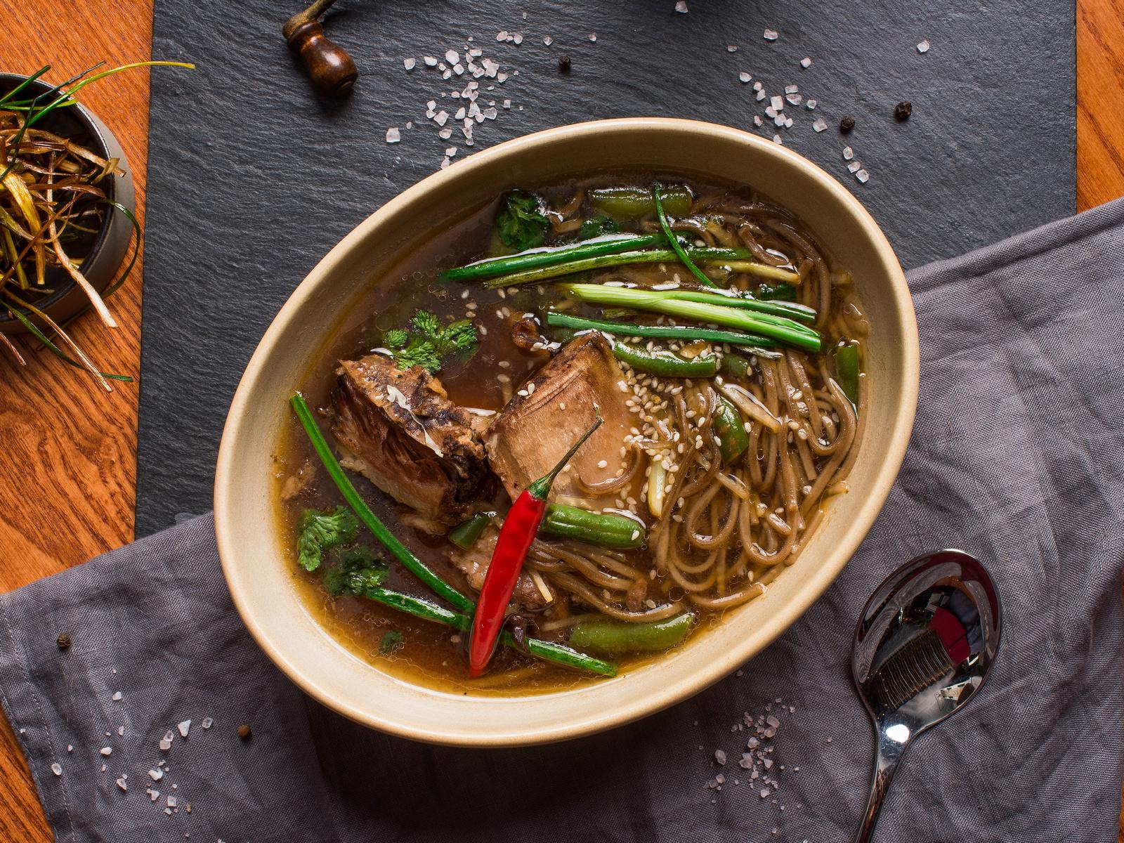 Суп Азиатский с гречневой лапшой
