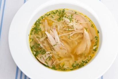 Суп-лапша из курицы на втором бульоне
